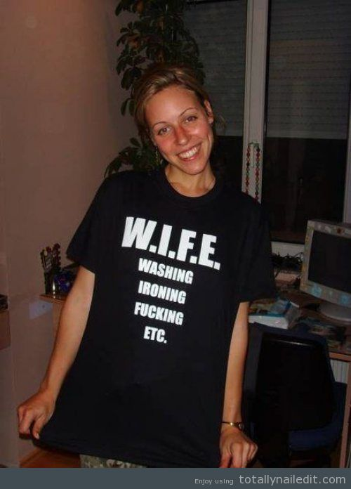 Wife definition. Nailed it