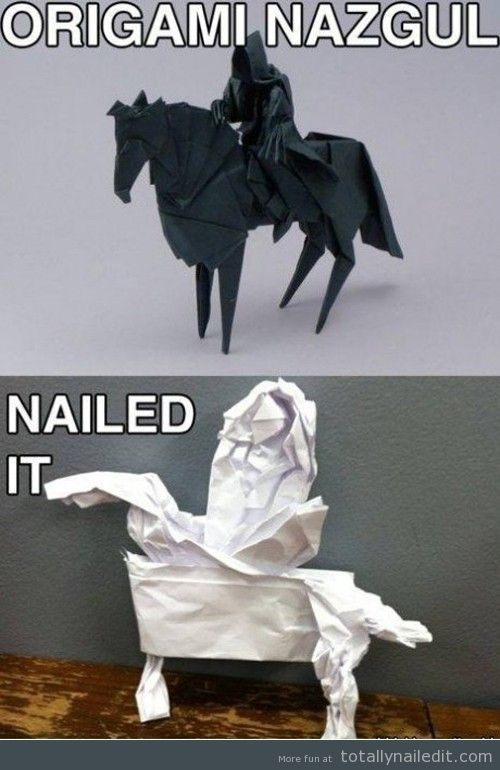 Origami. Nailed it