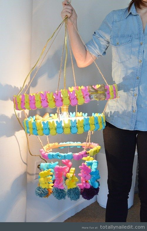 DIY Peep Chandelier – Nailed it