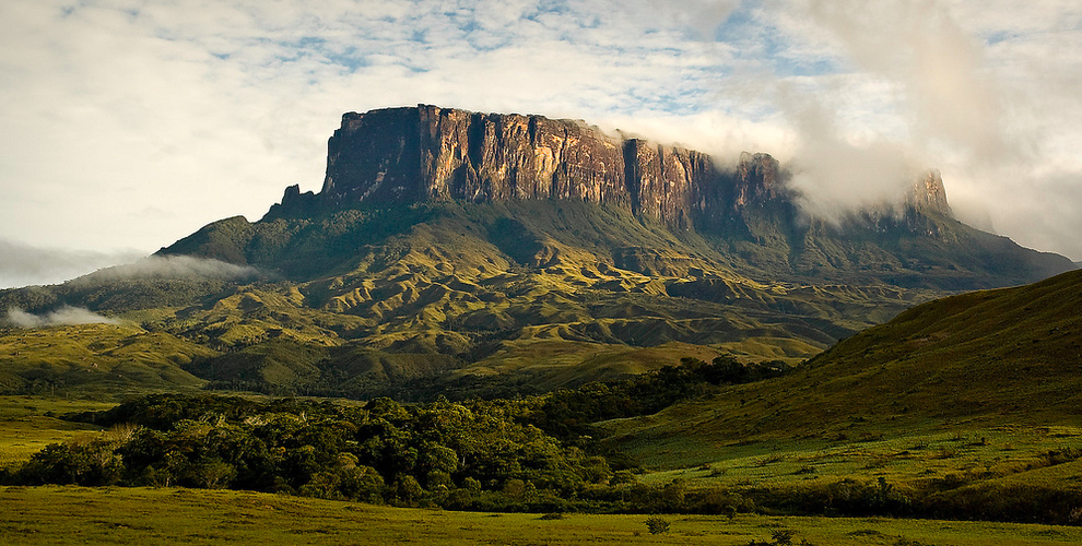 Mount Roraima in Venezuela, Brazil and Guyana