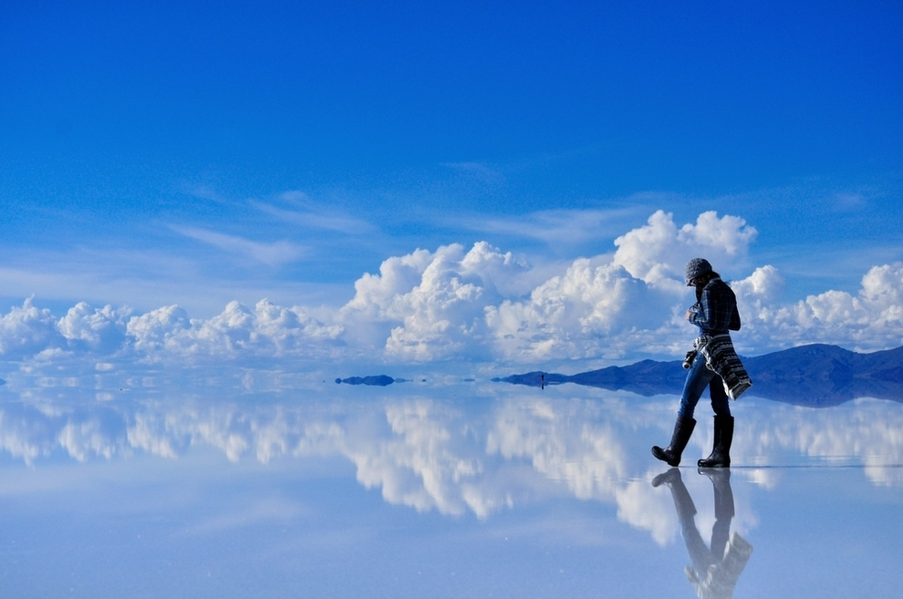 Salar De Uyuni in the Potosi and Oruro departments of Southwest Bolivia