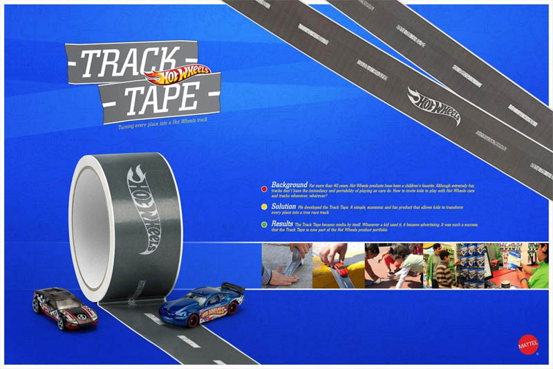 Hot wheels track tape turns anything into a racetrack