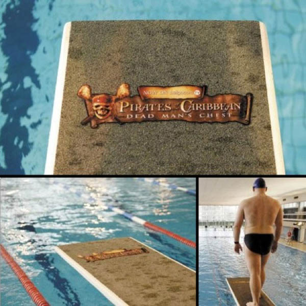 Walk the plank diving board sticker pirates of the carribean