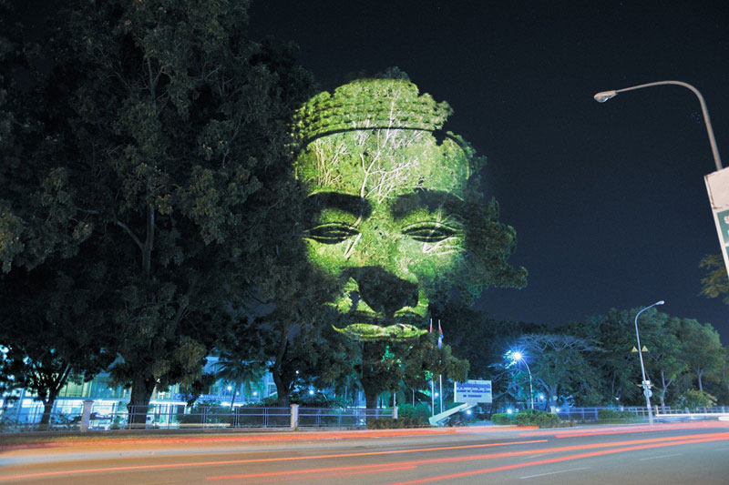 Impressive 3D Images Projected Onto Trees #6