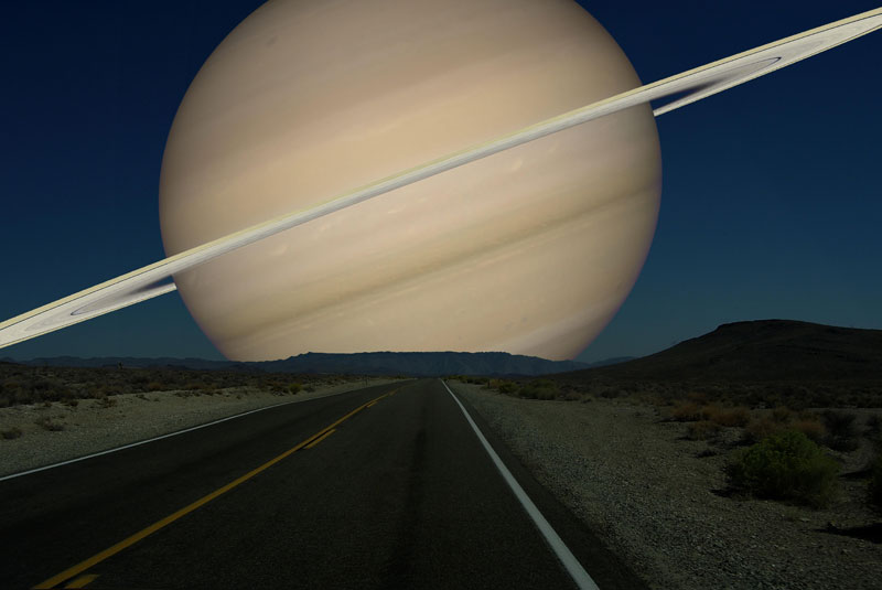How the sky would look if other planets were as close to Earth as the Moon?