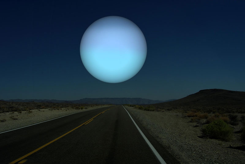 If Uranus (diameter 50,724 km | 31,518 miles) was as close to Earth as the Moon