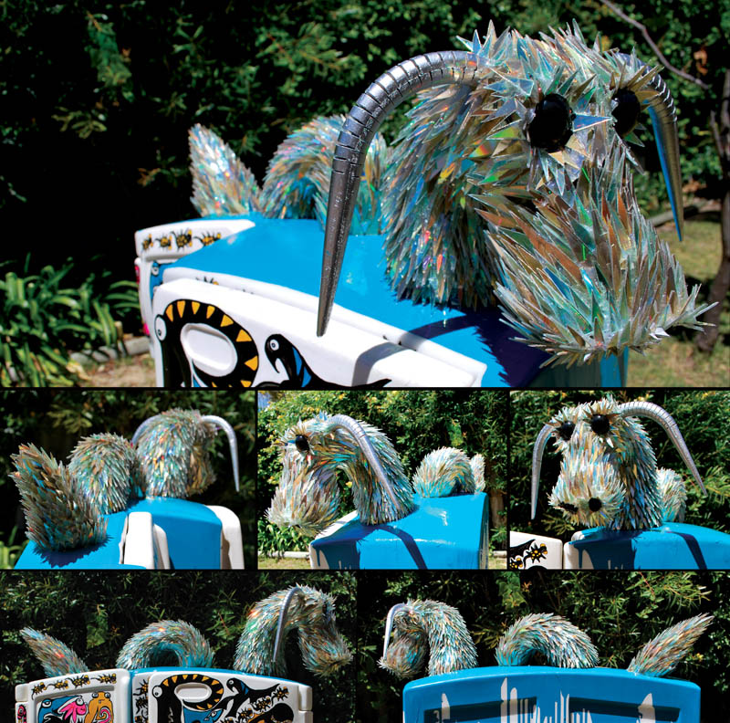 animal sculptures made from shattered cds sean avery (7)