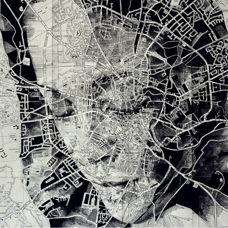 12 Incredible Portraits Drawn Onto Maps