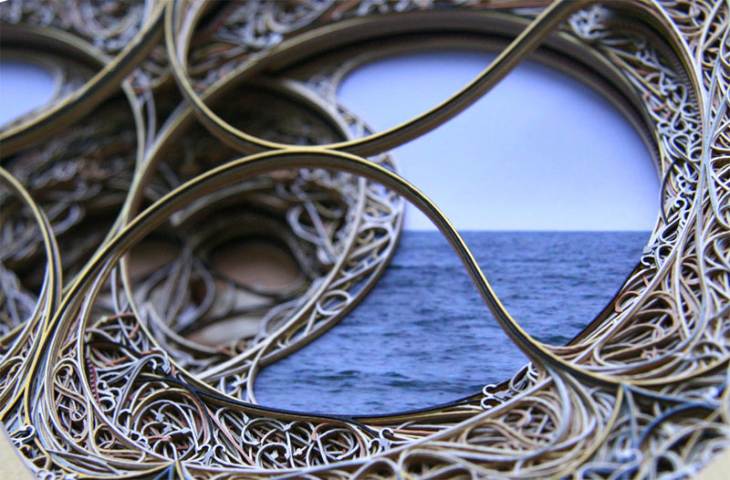 3D Laser Cut Paper Art by Eric Standley