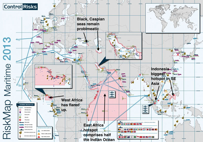 riskiest areas to ship where the pirates rule the seas