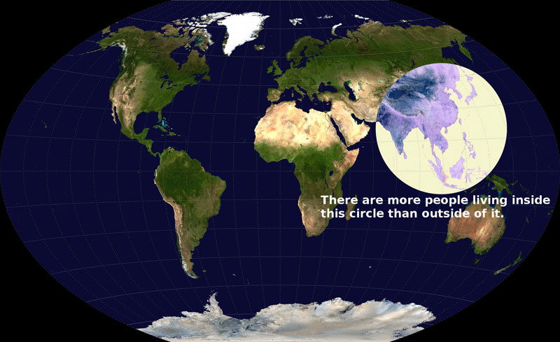 there are more people living inside this circle than outside of it