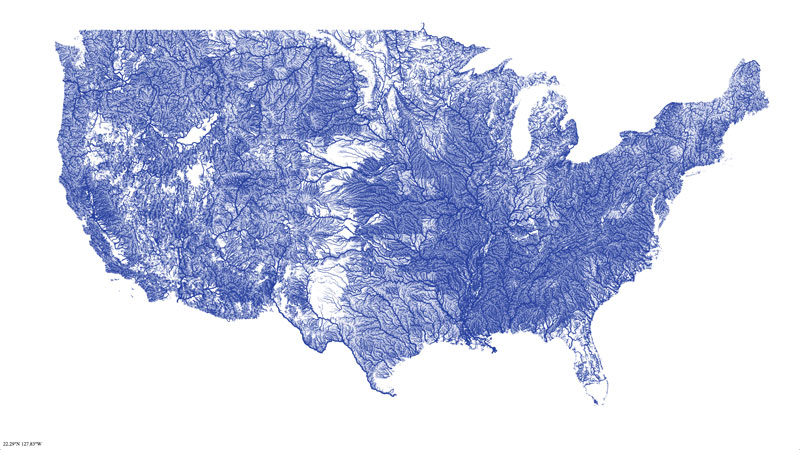 map of united states rivers