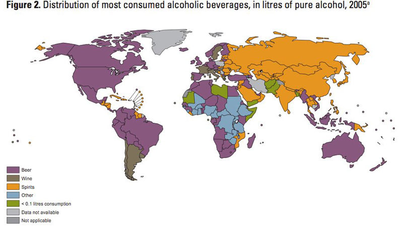 drink popularity by country
