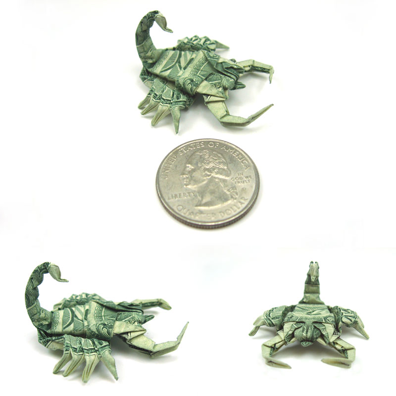 Scorpion made from dollar bill