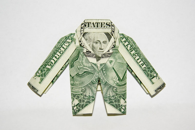 Jacket made from dollar bill