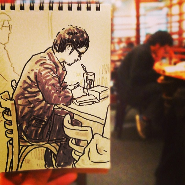 speed sketches of everyday scenes by hama house (12)