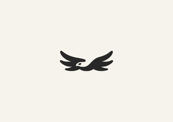 2. Minimalist animal illustrations using negative space