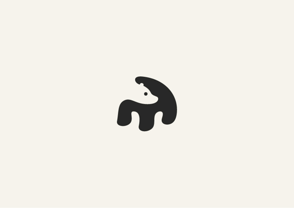 6. Minimalist animal illustrations using negative space