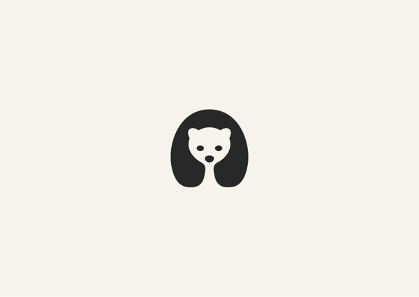 4. Minimalist animal illustrations using negative space