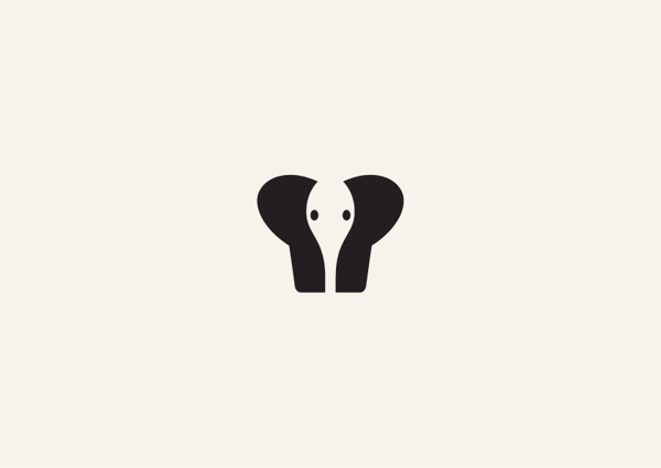 3. Minimalist animal illustrations using negative space