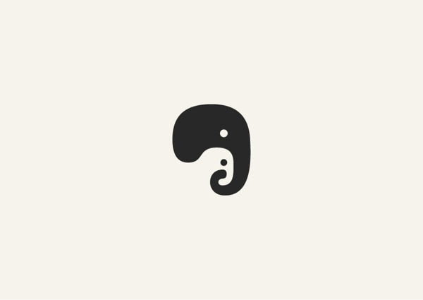 7. Minimalist animal illustrations using negative space