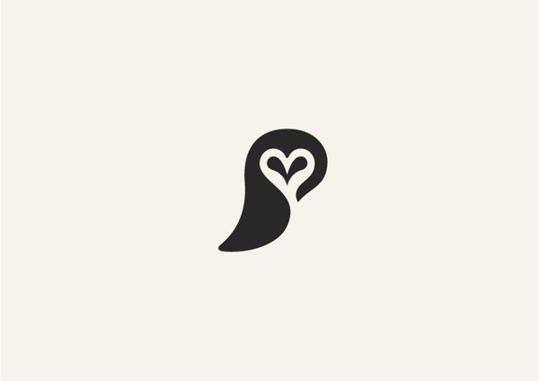1. Minimalist animal illustrations using negative space
