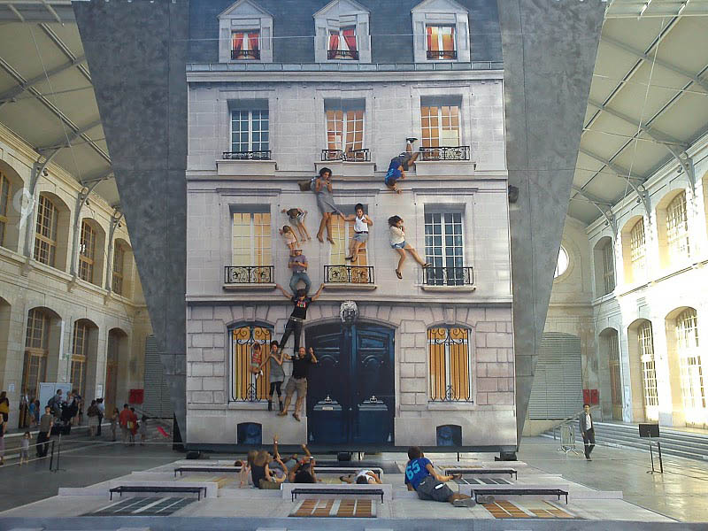 mirrored building art installation interactive france leandro erlich (4)