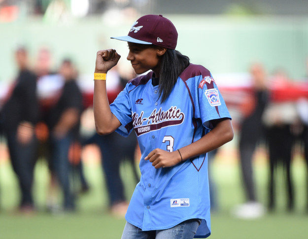 Mo'ne Davis, the 13-year-old girl who made history as the first girl to pitch a shutout game in the Little League World Series, is taking her inspirational story from the plate to the page.
