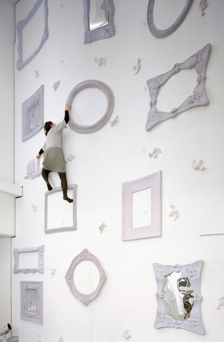 coolest climbing wall japan weird objects