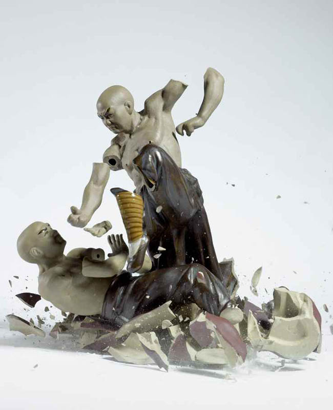 porcelain figures high speed photography as they smash drop to ground shatter klimas (2)