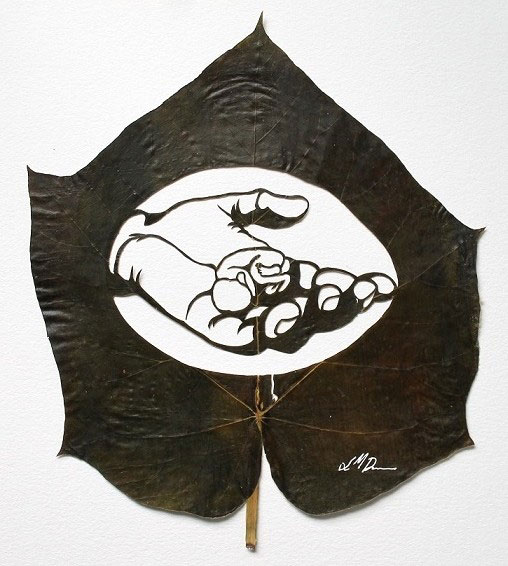 12. Precision cut leaf artwork by Lorenzo Duran