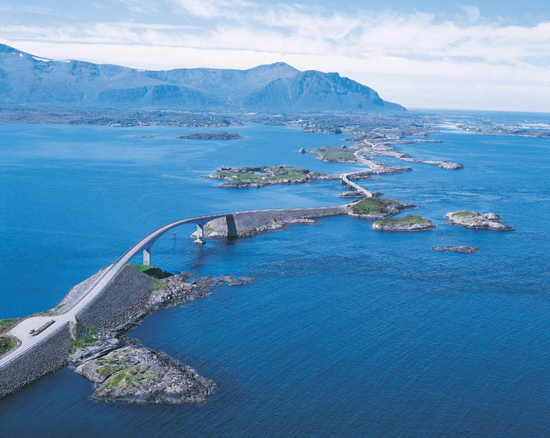 atlantic road norway aerial photograph from above