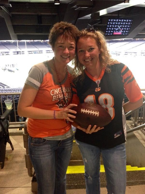 The good news is that the Saints made sure the blindsided Bengals fan got a game ball of her own.