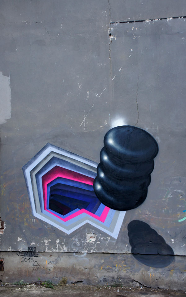 3d street art by 1010 portal to another dimension wormholes (3)