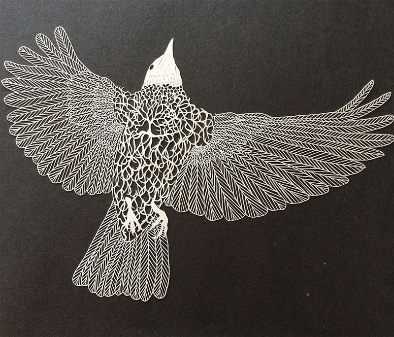 hand cut paper art by maude white 7