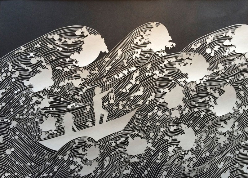 hand cut paper art by maude white