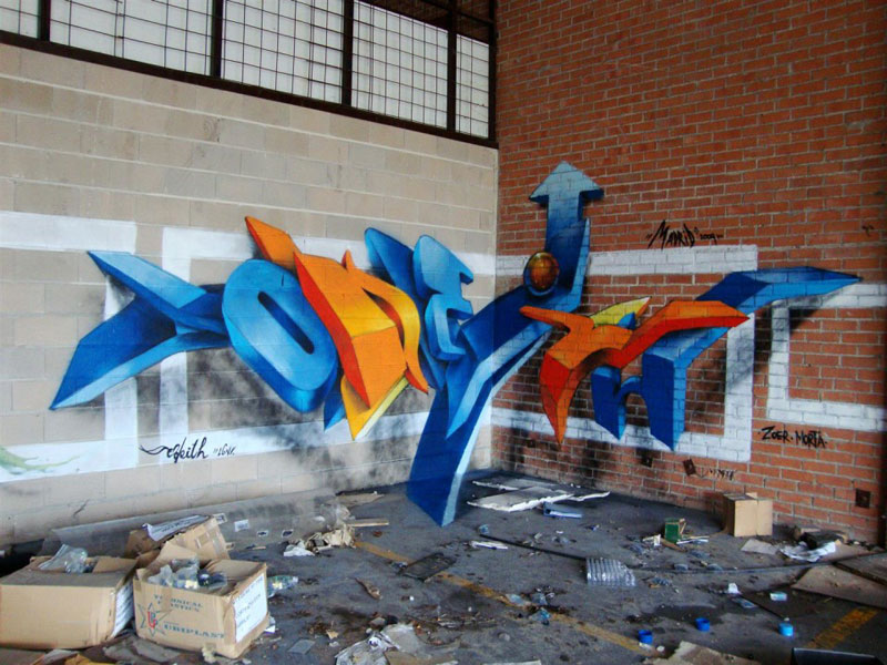 anamorphic graffiti murals that leap off the wall by odeith (2)