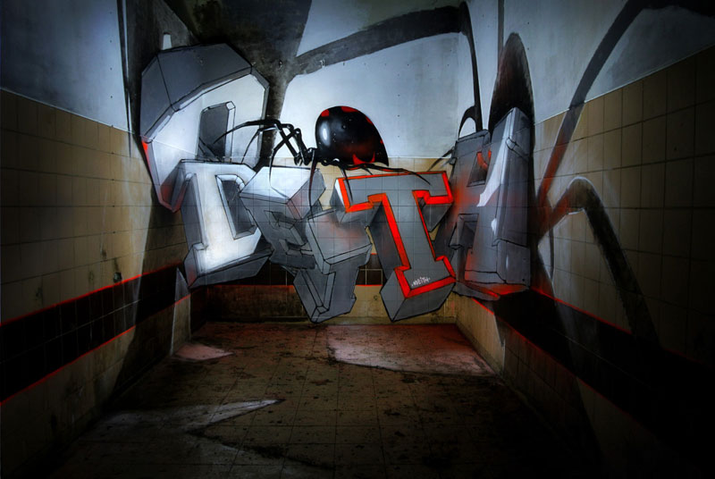anamorphic graffiti murals that leap off the wall by odeith (10)