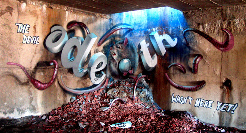 anamorphic graffiti murals that leap off the wall by odeith (4)