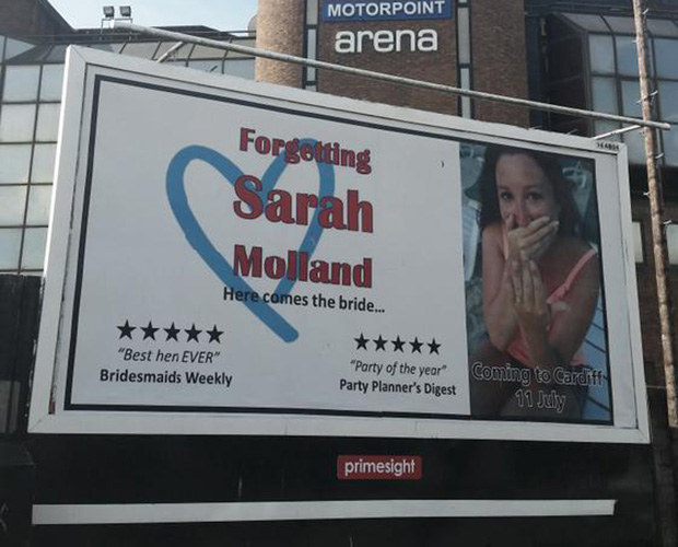 And you can even pay £500 for a city centre billboard to welcome the bride to her hen do.