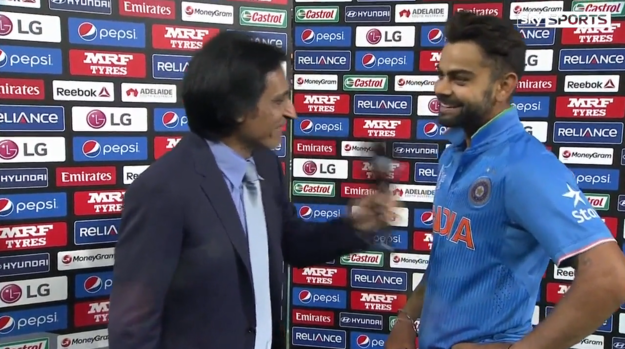 At which point, all the Indian fans at the Adelaide Oval went positively apeshit. While Virat just smiled.