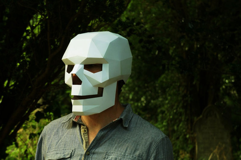 Geometric 3D Paper Masks by Steve Wintercroft