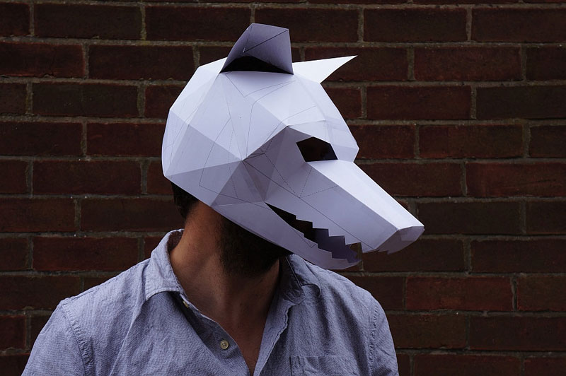 Geometric 3D Paper Masks by Steve Wintercroft (3)