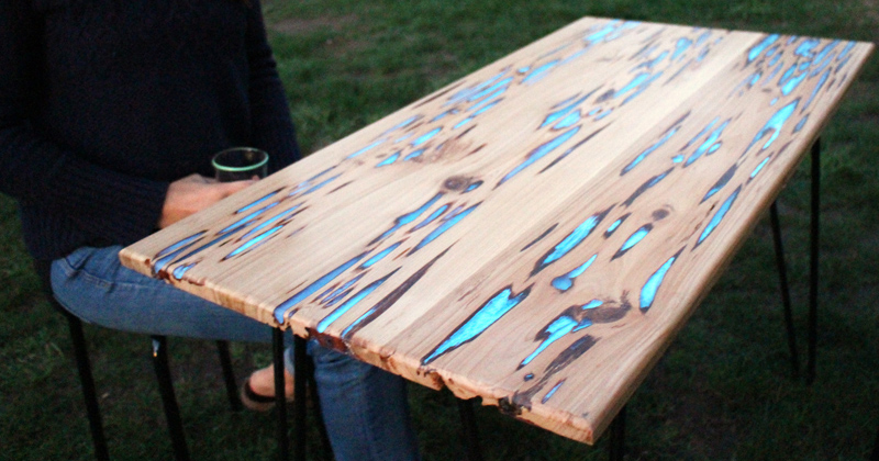 Glow-in-the-Dark Dining Table Timelapse