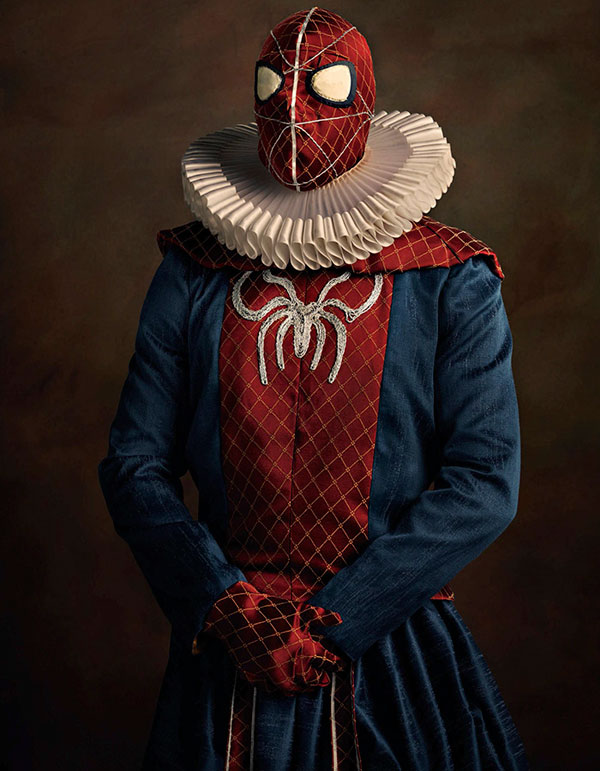 Heroes and Villains as Flemish Portrait Paintings