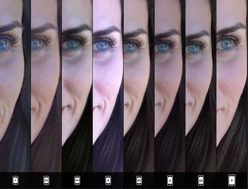 lisa bettany Takes Identical Shots with All 8 iPhone Versions (4)