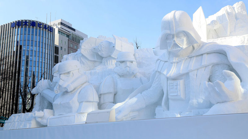 star wars darth vader snow sculpture japan (2)