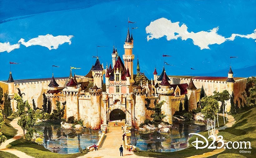 Last but not least, sketches of Sleeping Beauty Castle look JUST as magical as it does in real life... although we're missing the fortress-like walls!