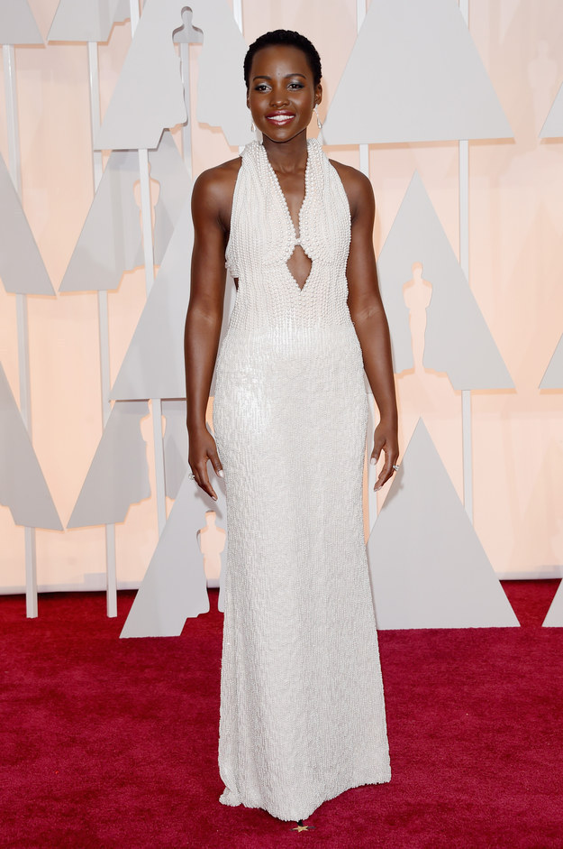 Lupita Nyong'o's $150,000 all-pearl Oscar dress was stolen.