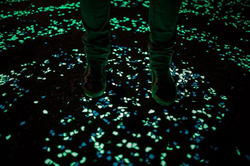 van gogh roosegaarde glow in the dark bicycle path eindhoven netherlands (1)